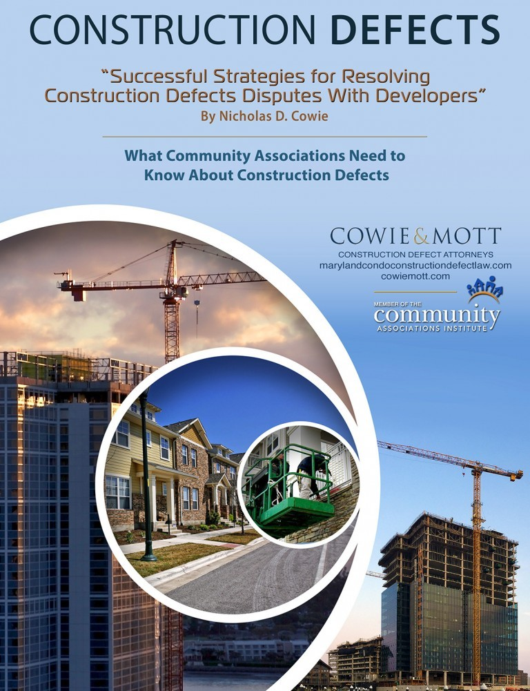 Maryland Construction Defect Booklet