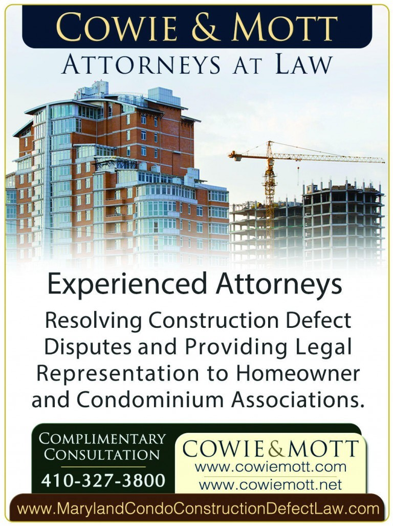 Maryland Condominium Construction Defect Warranty Attorneys Lawyers